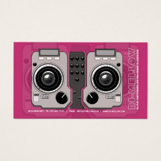 DJ CD Turntable Mixer Console Business Card