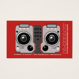 DJ CD Turntable Mixer Console Business Card(2) Business Card
