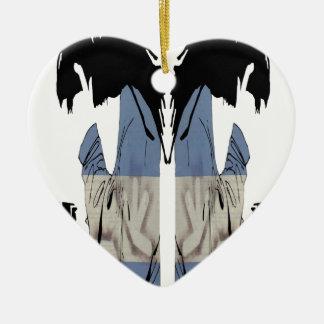 DJ CHRIS DIABLO - DJ LOGO 6 CERAMIC HEART DECORATION