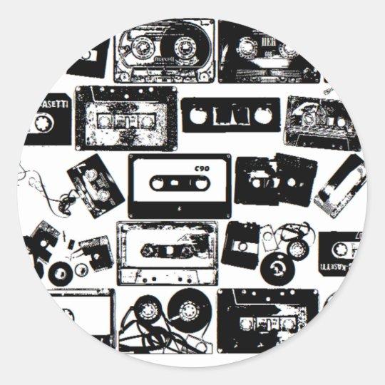 dj classic round sticker