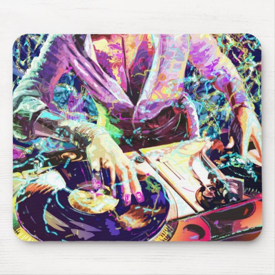 DJ CLUB GIRL MOUSE MAT