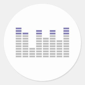 dj clubbing equalizer sound audio round stickers