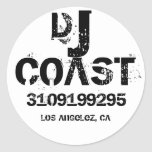 DJ COAST ROUND STICKER