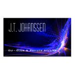 DJ - Colour Explosion Black Standard Business Pack Of Standard Business Cards