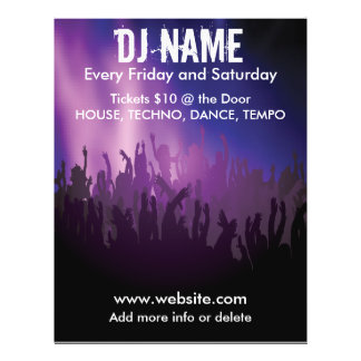 DJ Concert Crowd Music Flyer