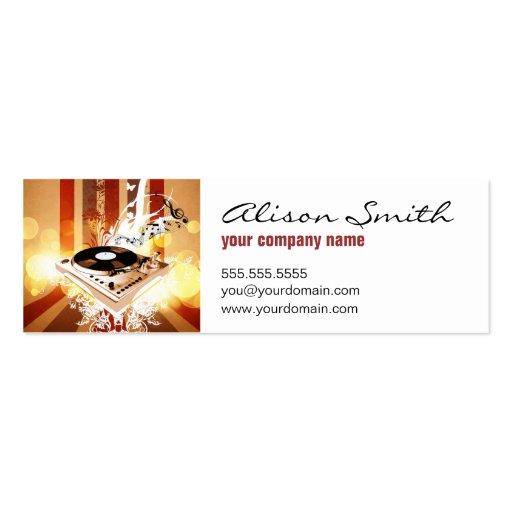 Dj console business cards