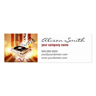 Dj console pack of skinny business cards