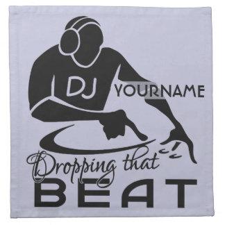 DJ custom cloth napkins