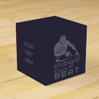 DJ custom color favor boxes