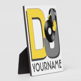 DJ custom color & monogram plaque