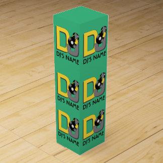 DJ custom color & monogram wine gift box