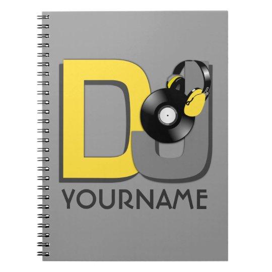 DJ custom color notebook
