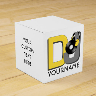 DJ custom favor boxes