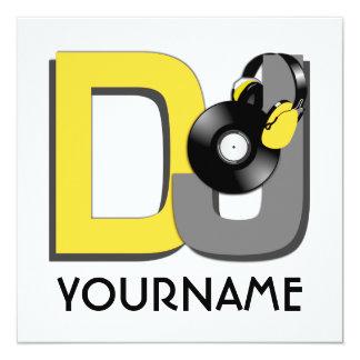 DJ custom invitation