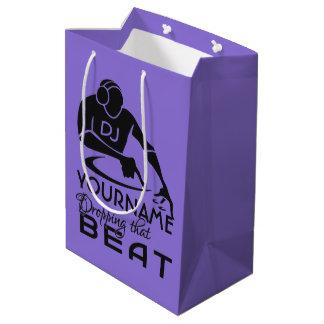 DJ custom name & color gift bags