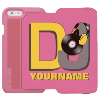 DJ custom name & color wallet cases Incipio Watson™ iPhone 6 Wallet Case