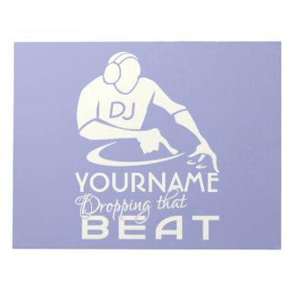 DJ custom notepad