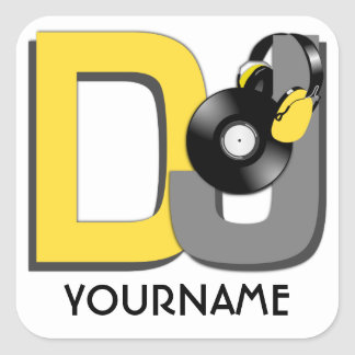 DJ custom stickers