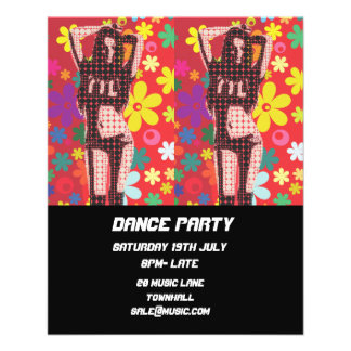 DJ Dance Party Nightclub disco retro Flyer