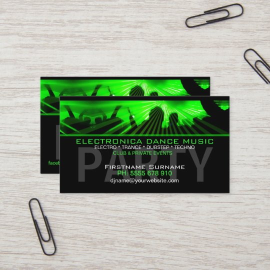 Dj dance rave lasers club business card zazzle dj dance rave lasers club business card reheart Image collections