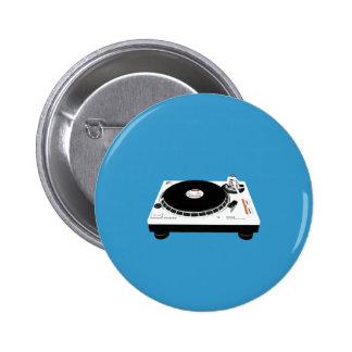DJ Decks Pinback Button