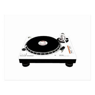 DJ Decks Postcard