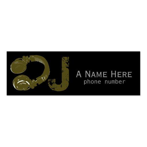dj dee jay electronic music business card templates