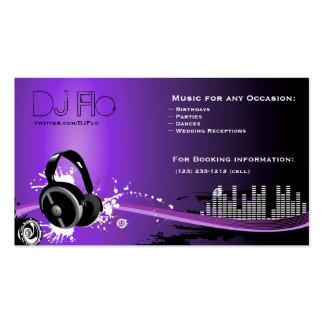 DJ - deejay music coordinator Pack Of Standard Business Cards