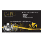 DJ - deejays music coordinator Pack Of Standard Business Cards