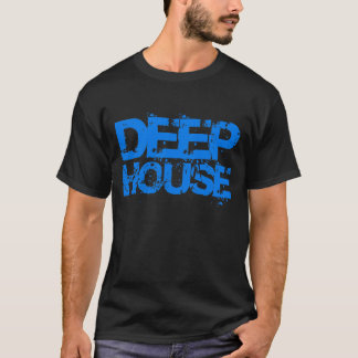 dj deep house music blue design t shirt