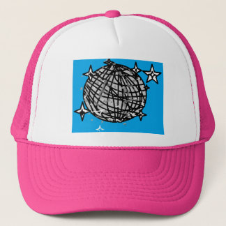 dj disco ball trucker hat