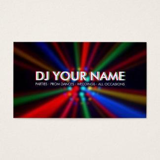 DJ Disco Beams Lights business card