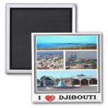 DJ - Djibouti - I Love - Collage Mosaic