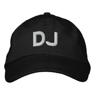 DJ EMBROIDERED BASEBALL CAP