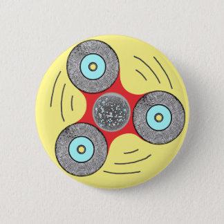 DJ Fidget Spinner 6 Cm Round Badge