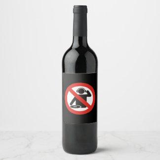 DJ free zone Wine Label