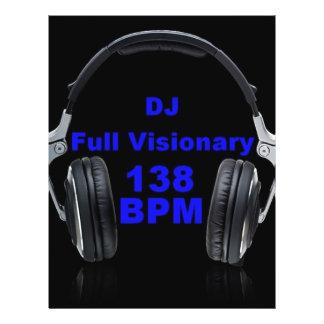 Dj Full Visionary 138 Bpm Shirt 21.5 Cm X 28 Cm Flyer