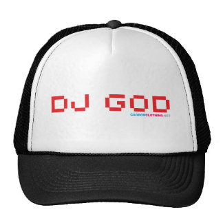 DJ God Trucker Hats