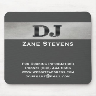 DJ Gray Stripe Silver Mouse Pad