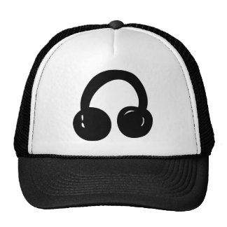 dj headphones mesh hat