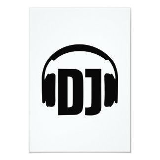 DJ headphones 3.5x5 Paper Invitation Card