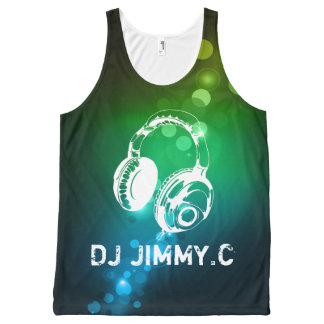DJ Headphones PersonAlized Music TSHIRT All-Over Print Tank Top