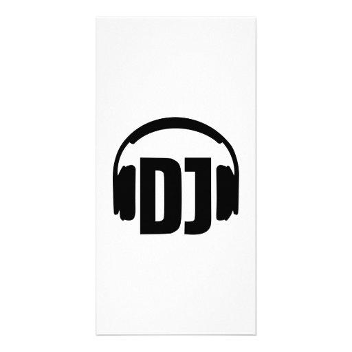 DJ headphones Custom Photo Card