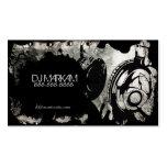 DJ Headphones & Splatter on Metal Business Cards