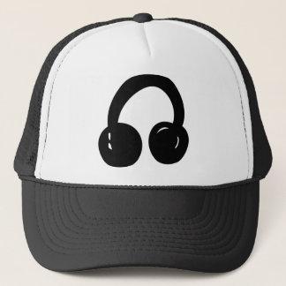 dj headphones trucker hat