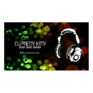 DJ Headphones with Colorful Lights Business Cards