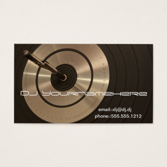 DJ HIFI BUSINESS CARD