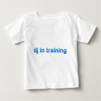 DJ In Training - Disc Jockey Turntable vinyl mixer Baby T-Shirt