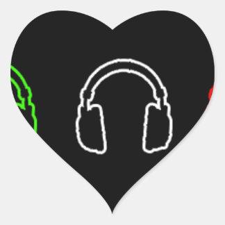 Dj Italian Flag Heart Sticker