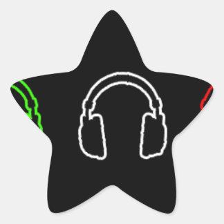 Dj Italian Flag Star Sticker